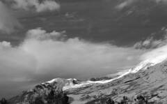 Winterscape (kf7mgt) Tags: winter blackandwhite snow storm mountains clouds snowshoe utah nikon wasatch hiking rockymountains peaks dslr anseladams utahlandscapes nikonphotography d3300