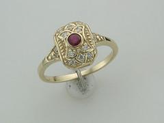 Ruby & dia yg vintage ring