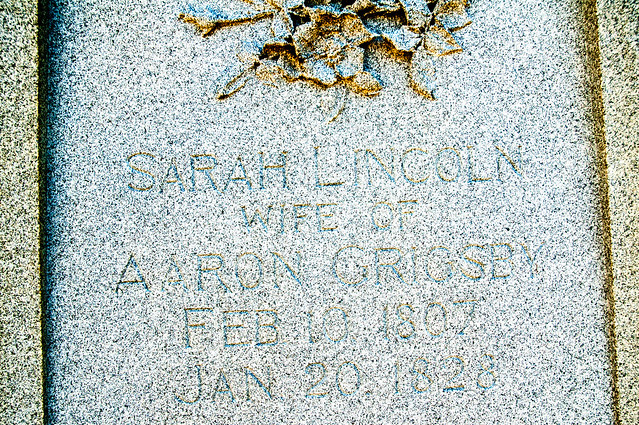 Lincoln State Park - Sarah Lincoln-Grigsby grave site - January 5, 2015