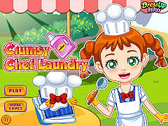 小廚師洗衣服(Clumsy Chef Laundry)