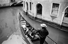 Gondola Ride (laskaproject) Tags: venice bw italy white black water boat canal ride arches gondola curve venezia ore