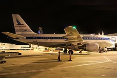 N744P American (U.S Airways) A319-112 at KCLE (GeorgeM757) Tags: airplane airport aircraft aviation retro american airbus usairways clevelandhopkins a319 kcle a319112 n744p alltypesoftransport nightairplane georgem757
