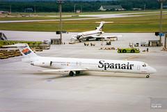 Spanair McDonnell Douglas MD-83 EC-FTU (hjakse) Tags: hessen delta tyskland frankfurtammain mcdonnelldouglas super80 md80 boeing727 md83 md82 727200 fgmlk dc980 eicno ec150 ecejq ec487 n565ms