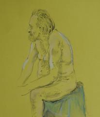 Seated Nude Pete (amanda.parker377) Tags: lifedrawing pencildrawing