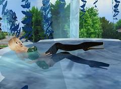 17a (SoakinJo) Tags: fountain highheels heels platforms balletheels wetlook wetclothes 12inchheels