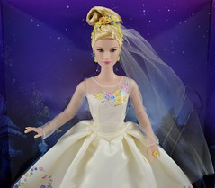 Wedding Day Cinderella Doll by Mattel - Disney Cinderella Live Action Film - Deboxing - Attached to Backing - Midrange Front View (drj1828) Tags: wedding bride us amazon doll princess disney cinderella weddingday purchase mattel 2015 deboxing 11inch productinformation liveactionfilm
