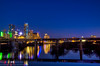 Reflected Skyline (OscarAmos) Tags: sunset water skyline night austin downtown texas townlake hdr lightroom 18200mm photomatix tonemapped detailenhancer topazadjust nikond5100