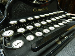 Type Love (Photos by Joan Bandy) Tags: white black classic typewriter writing keys antique letters corona type writer oldfashioned