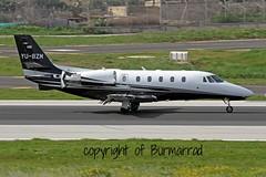 YU-BZM LMML 03-03-2015 (Burmarrad (Mark) Camenzuli) Tags: pink cn aircraft air airline plus registration cessna citation xls 560xl lmml yubzm 5606037 03032015