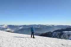 Self in Blue (derliebewolf) Tags: schnee winter snow france mountains berg self frankreich bluesky alsace elsass labresse mountaintop lehoneck derliebewolf