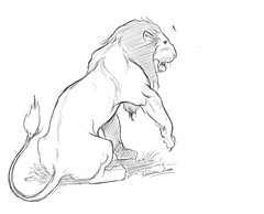 lion1aa (Artist_Essam) Tags: art animal pencil ink sketch drawing lion anatomy