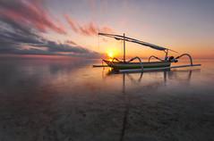 Ready go to Sea (Farizun Amrod Saad) Tags: shadow bali beach nature sunrise reflections indonesia landscape asian boat asia awesome sanur pantaikarang