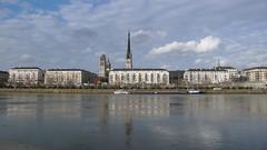 Rouen - La Seine - Nuages et soleil (jeanlouisallix) Tags: france seine landscape soleil eau rivire rouen maritime normandie nuages paysage couchant haute fleuve