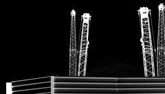 The Building Site 4 (Carl Campbell) Tags: mexicocity cranes constructionsite modifiedphotograph