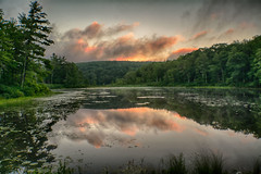 Morning-At-WoodCreek-7-26-1 (desouto) Tags: hdr nature trees water stones lakes ponds sky clouds snow stream