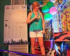 Karaoke at Cat's Meow. (Flagman00) Tags: karaoke catsmeow neworleans frenchquarter  milf gilf hotchicks hot pretty sexy women grandma mom singing stage nightlife drunk horny blonde