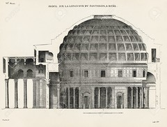 Pantheon in Rome VI (nehsummer2016) Tags: old black rome building art history church monument architecture vintage paper print temple dawn design sketch etching italian european arch image roman drawing antique decoration pantheon style landmark created engraving diagram dome blueprint classical civilization column past woodcut textured colonnade obsolete architrave revival destinations zzzaahaaabdg