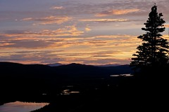 Dusk Settles Over the Valley (MIKOFOX  Show Your EXIF!) Tags: canada midnightsun bigfoxlake lake yukon sky water forest mountains spruce june fujifilmxt1 sunset landscape xt1 valley summer mikofox clouds xf18135mmf3556rlmoiswr
