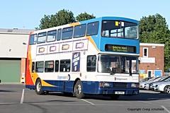 Stagecoach East Midlands Volvo Olympian R161VPU (16061) at Scunthorpe Depot, 14/07/2016 (Scatmancraig1974) Tags: r161vpu r161 vpu volvo olympian alexander rltype rl type stagecoach east midlands scunthorpe depot double deck bus craig schofield scatmancraig 16061