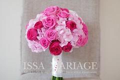 Buchet domnisoare onoare (IssaEvents) Tags: buchet mireasa trandafiri roz si rosii bucuresti valcea slatina issaevents issamariage