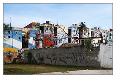 Art in La Habana (kurtwolf303) Tags: city urban topf25 wall buildings graffiti topf50 topf75 colorful cityscape 500v20f name havana cuba facades stadt caribbean vivi havanna gebude farbig bunt 800views kuba mauer huser lahabana fassaden karibik travelphotography reisefotografie 750views 250v10f flickrelite unlimitedphotos canoneos600d