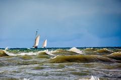 Rough Weather. (Conrad Anthony) Tags: ohio sailboat waves lakeerie tallships fairportharbor