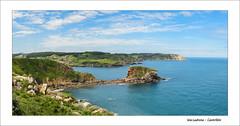 Isla Ladrona (Castrilln) - Panormica (Julin Martn Jimeno) Tags: islaladrona isla ladrona mar cantabrico costa asturiana asturias castrillon paraiso natural panorama panoramic pano nikon d7000 2016