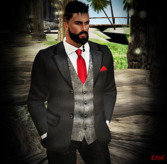 He Cleans Up Well (erikmofanui) Tags: eyecandy sexyman sexypeopleofsecondlife secondlifephotography secondlifeportrait secondlifeavatar colors formal tuxedo