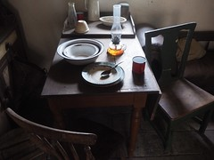 Meal Interrupted (Feldore) Tags: old ireland two irish house abandoned set museum vintage table chairs folk traditional spoon olympus bowl meal mug homestead northern mchugh em1 cultra 1240mm feldore