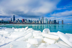 Icy Chicago Skyline - re-edited for portfolio ((Jessica)) Tags: chicago ice winter frozen teal skyline skyscrapers buildings architecture iceblocks shoreline lakemichigan lake water clouds sky landscape cold illinois sony sonynex5t nex5t mirrorless midwest season seasonal museumcampus southloop white blue lightroom smugmug