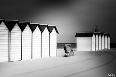 Booulogne_sur_mer_0716-66 (Mich.Ka) Tags: beach blackandwhite borddemer boulognesurmer cabane cabanedeplage faade graphic graphique hautsdefrance landscape minimalism minimalisme minimaliste noiretblanc nordpasdecalais pasdecalais paysage plage port sable sand