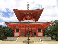 Symetry (Sanda_I) Tags: symetry architecture lines silhouette color red japan temple culture koyasan summer sky clouds june mystic
