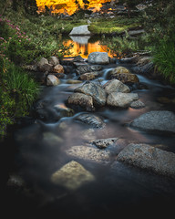 Sunset Reflections (Daniel Sanculi) Tags: desolation wilderness nikon d750 1635mm f4g long exposure nd filter backpacking river waterfall mountains nature california hyperfocal