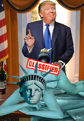 """Day 1"" (aberrantart) Tags: trump donaldtrump election politics republicans democrats president whitehouse ovaloffice statueofliberty sex doggystyle humor satire collage parody bizarre wine submission"