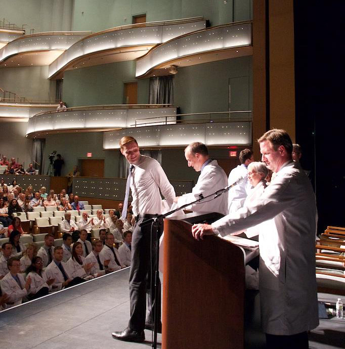 White Coat ceremony at the new Hancher