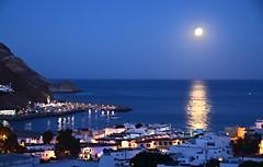 Hora azul con luna llena en San Jos, Almera. (eustoquio.molina) Tags: luna llena hora azul san jos almera parque natural cabo de gata