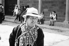 festival (sophs123.) Tags: festival carnaval cusco cuzco peru south america latin latinoamerica sudamerica man hombre portrait blackandwhite bw contrast travel photography summer canon canon400d tradition