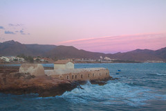 Un suave atardecer (saparmo) Tags: atardecer sol nubes colores mar agua murcia islaplana
