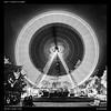 La foire de Liège 6 (Falcdragon) Tags: tamron35mmf18sp sonya7alpha ilce7 night lights city liège belgium foire fair nightphotography longexposure blackandwhite bw ferris wheel