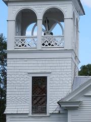 Bell Tower In Lunenberg (amyboemig) Tags: lunenburg vermont vt northeastkingdom 251 town august church steeple bell tower
