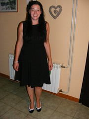 Nina - All Dressed up for a night out:) (seanfderry-studenna) Tags: nina lbd little black dress night out evening summer 2016 august hair brunette long dark new shoes white jewelry bracelet curly knee length happy smile smiling teeth mouth face pink lips arms legs hands bare skin tan tanned bronzed pose posed posing standing stood indoors people person croatia croatian hrvatska serb balkans europe european petrinja heart floow tiles woman female lady girl girlfriend fiancee wife married stunning beauty beautiful gorgeous charm charming cute model love
