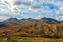 The Moelwyns under an Autumn sky (uk_dreamer) Tags: landscape wales mountains nature natur autumn fall sky clouds colors colours color colour outdoor wild cloudporn