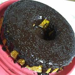 Bolo Laranja com Cobertura de Chocolate (Almanaque Culinrio) Tags: receita food recipe comida culinria gastronomia