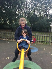 ♪♫♫♪♪  See Saw Margery Daw  ♪♫♫♪♪ (Donna JW) Tags: picmonkey atthepark child seesaw family nurseryrhyme