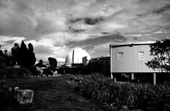 Observatory (sturkster) Tags: australia australie a1200 bw blackwhite canonpowershota1200 canona1200 canon canberra noiretblanc mtstromlo observatory powershot photoscape clouds