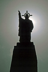 "San Sebastian - Statue ""Corazon de Jess"" (astroaxel) Tags: spanien kanarische inseln la gomera san sebastian statue corazon jess jesus"