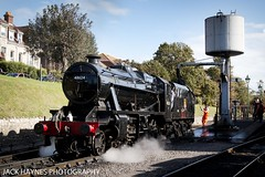 8f taking on water (Jack Haynes Photography) Tags: swanage railway autumn steam gala 2016 dorset purbeck locomotive heritage 48624
