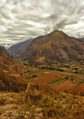 volcano (sussexscorpio) Tags: volcano mountain hillside valley sacredvalley peru southamerica landscape sky fields outdoor smoking steam