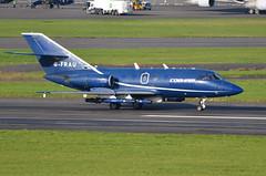 DSC_3171 - Dassault Falcon 20, G-FRAU, FR Aviation Ltd., Glasgow Prestwick Airport, 19th October 2016. (Martin Andrew Laycock) Tags: prestwickairport glasgowprestwickairport egpk dassaultfalcon20 fraviation gfrau