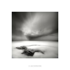 Storm-Chasing (Les Forrester) Tags: blackwhite monochrome square seascape landscape sea clouds rocks northumberland storm weather rain skancheli